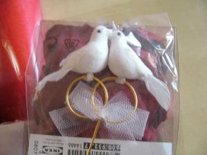 holubičky do druhého svatebního dortu
