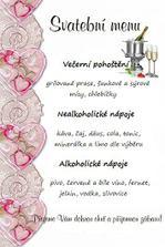 Naše svatební menu na kurty