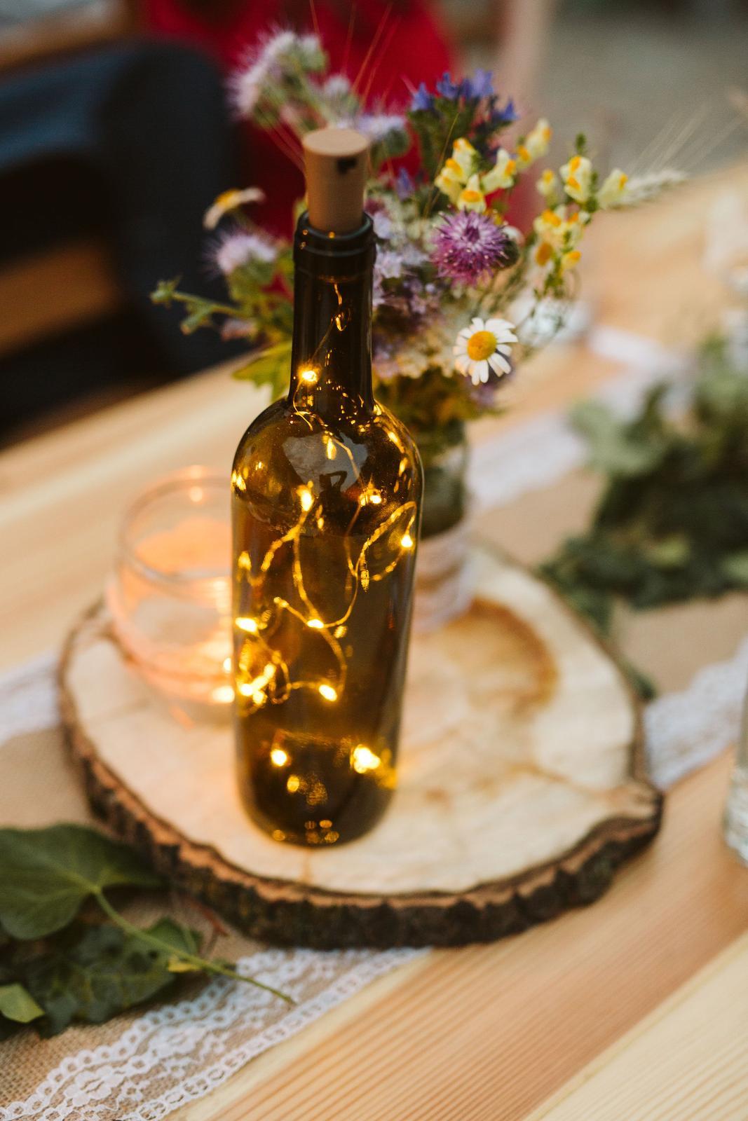 Světýlka do láhve včetně nových baterií - Obrázek č. 1