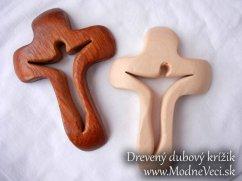 Drevený dubový krížik 15x10cm - Obrázok č. 1