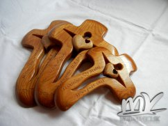 Drevený dubový krížik svadobné balenie - Obrázok č. 1