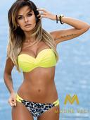 Luxusné dámske plavky 177 ELIN 03 - neonovo-žltá, L