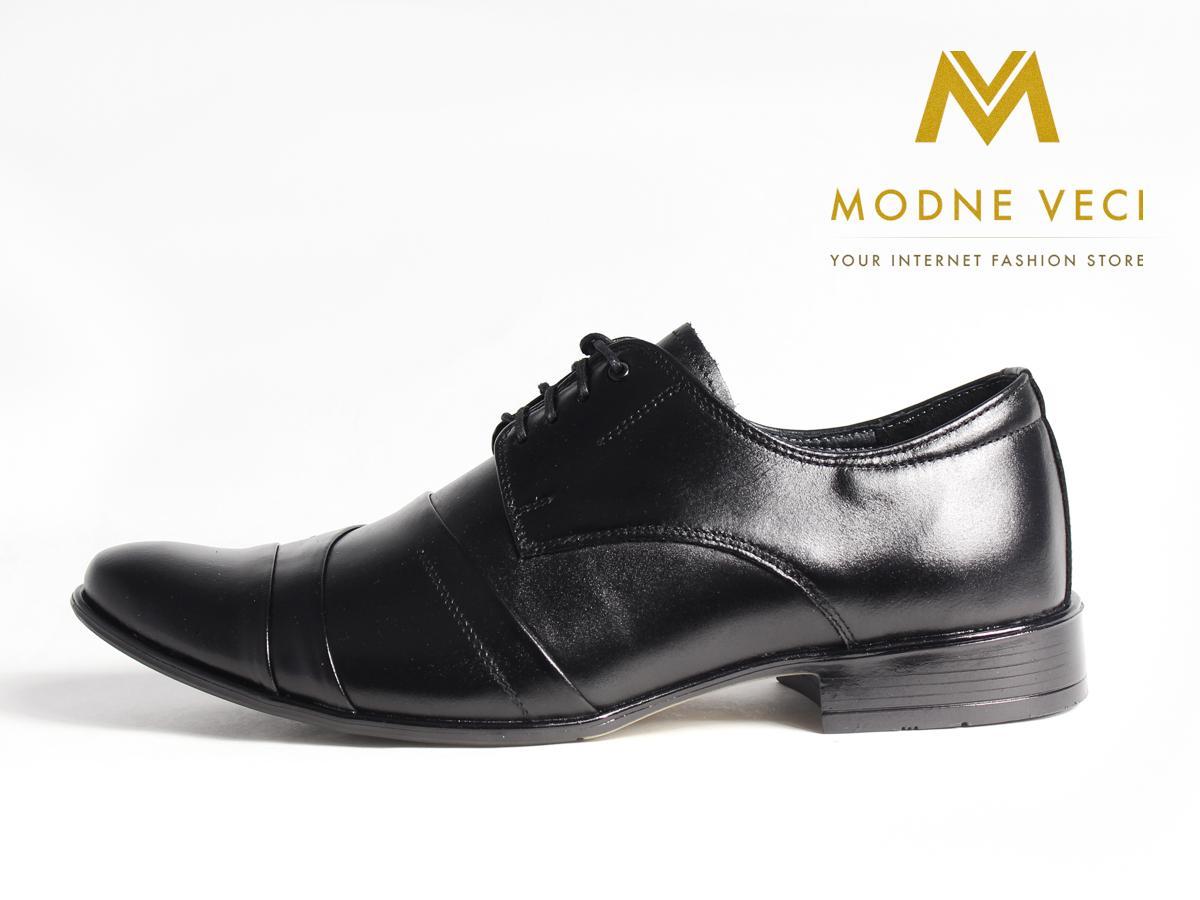 Pánske spoločenské kožené topánky čierne(37-46)116 - Obrázok č. 1