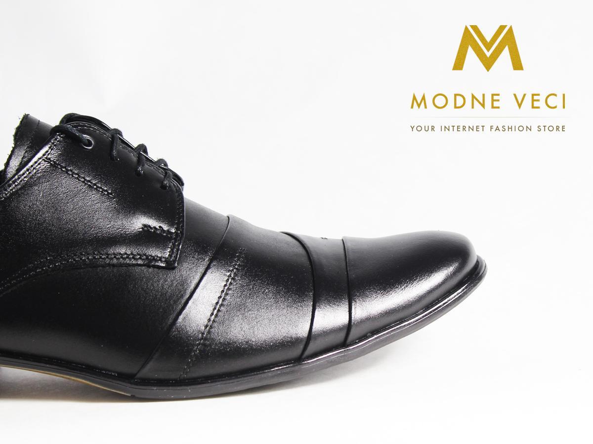 Pánske spoločenské kožené topánky čierne(37-46)116 - Obrázok č. 2