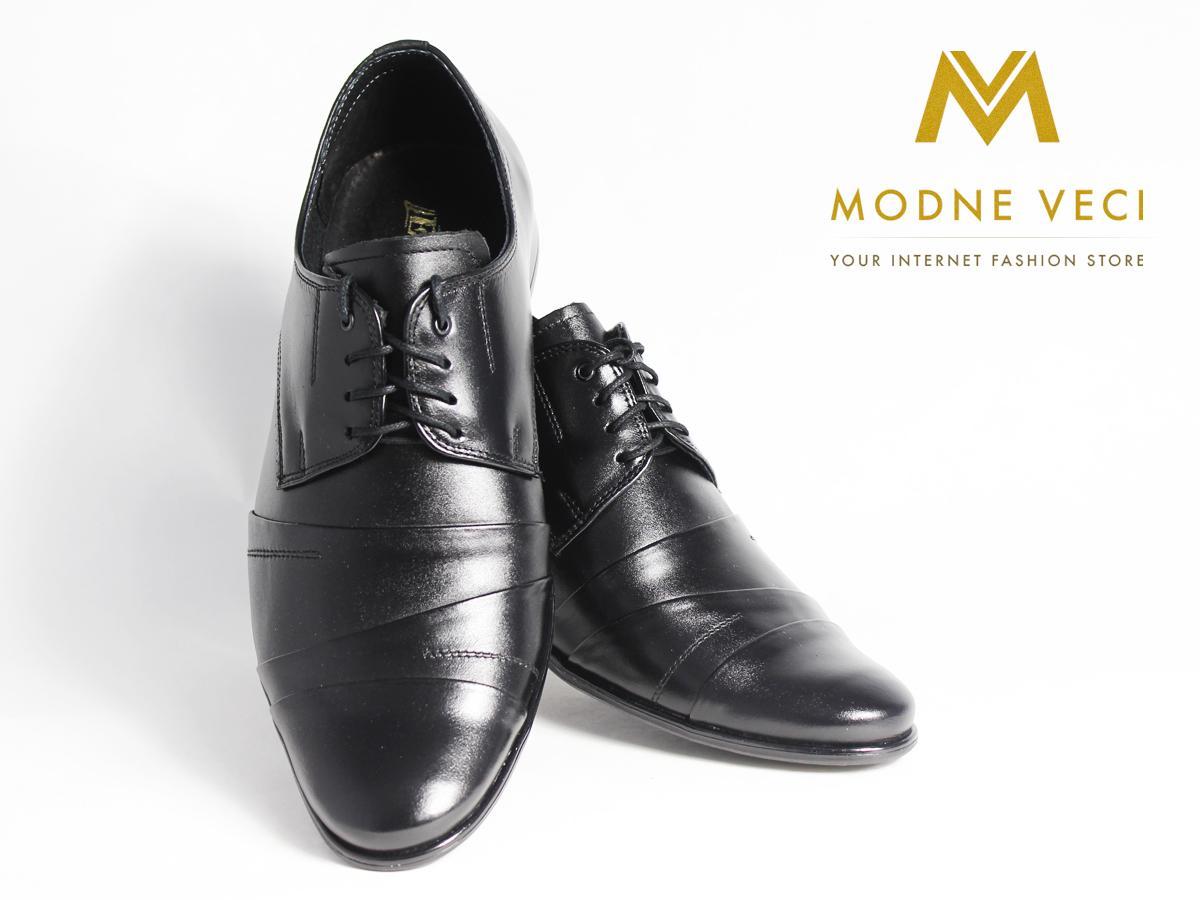 Pánske spoločenské kožené topánky čierne(37-46)116 - Obrázok č. 3