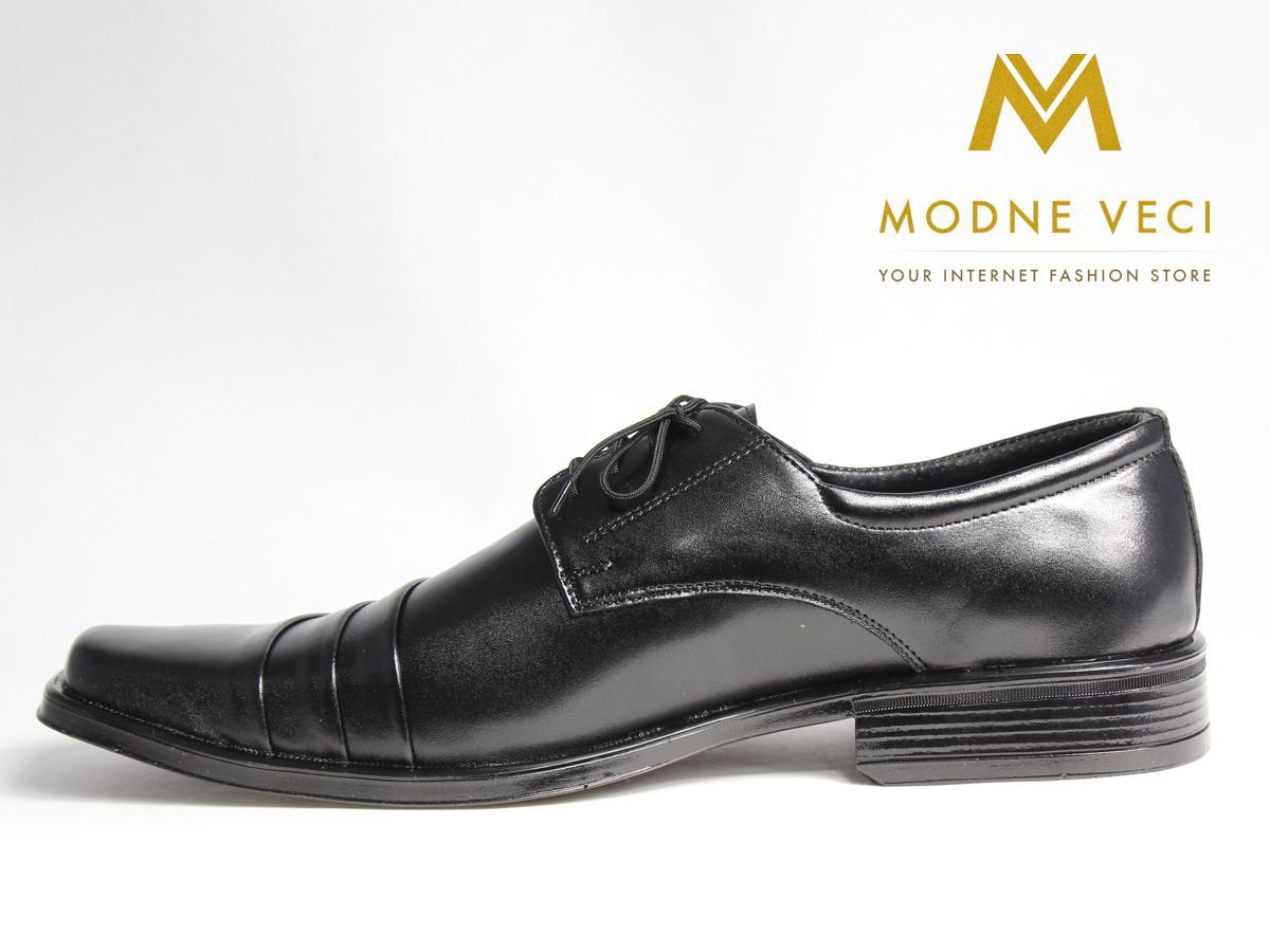 Elegantné topánky- kožené model 177 veľkosti 46 - Obrázok č. 1
