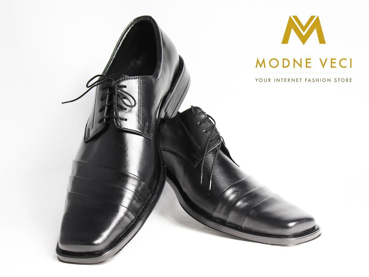 Elegantné topánky- kožené model 177 veľkosti 46 - Obrázok č. 2