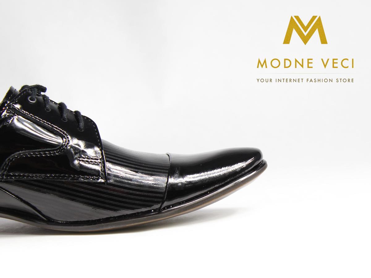 Pánske spoločenské kožené topánky, 39-45 lakovky  - Obrázok č. 2