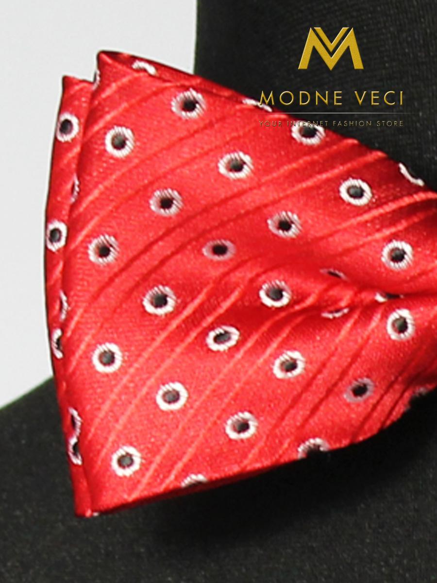 Červený pánsky motýlik s vreckovkou model 15 - Obrázok č. 2