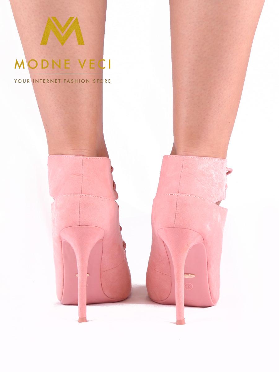 Moderné topánky s viazaním v ružovej farbe 35 - Obrázok č. 3
