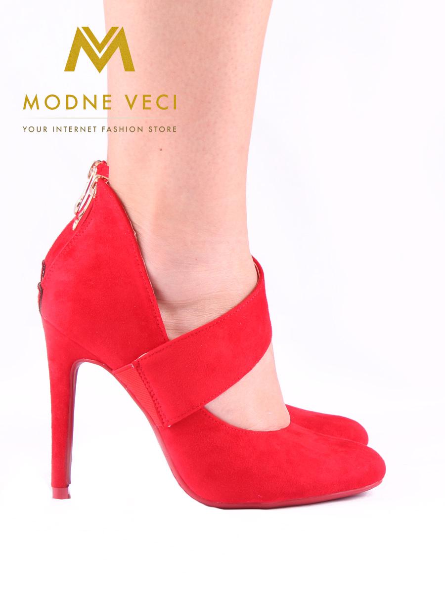 Červené topánky na ihličkovom podpätku 36-40 - Obrázok č. 2