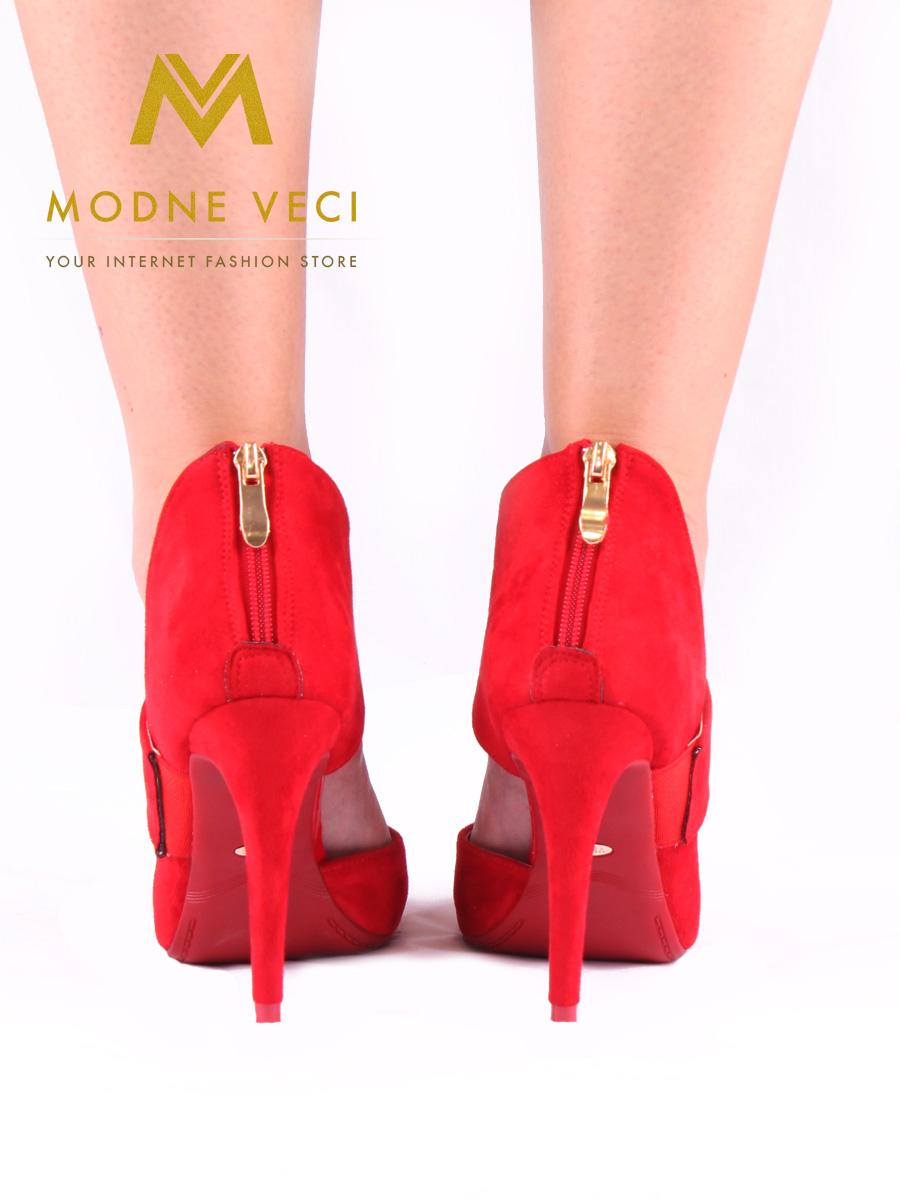 Červené topánky na ihličkovom podpätku 36-40 - Obrázok č. 4