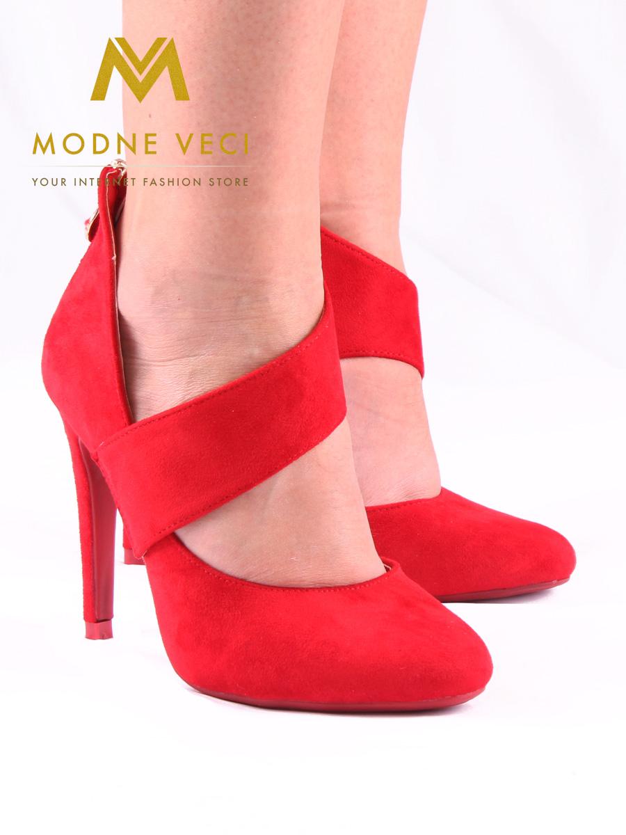 Červené topánky na ihličkovom podpätku 36-40 - Obrázok č. 1