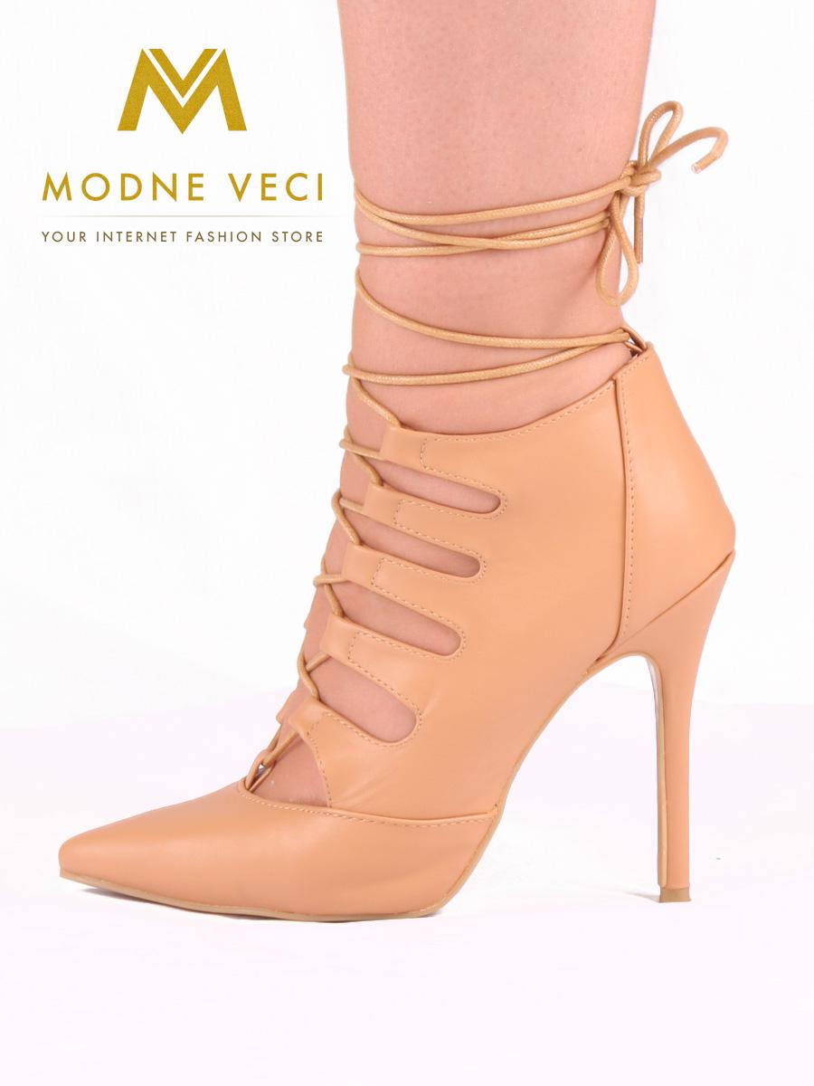 Trendy bežovo-hnedé topánky na šnurovanie 35-40 - Obrázok č. 3