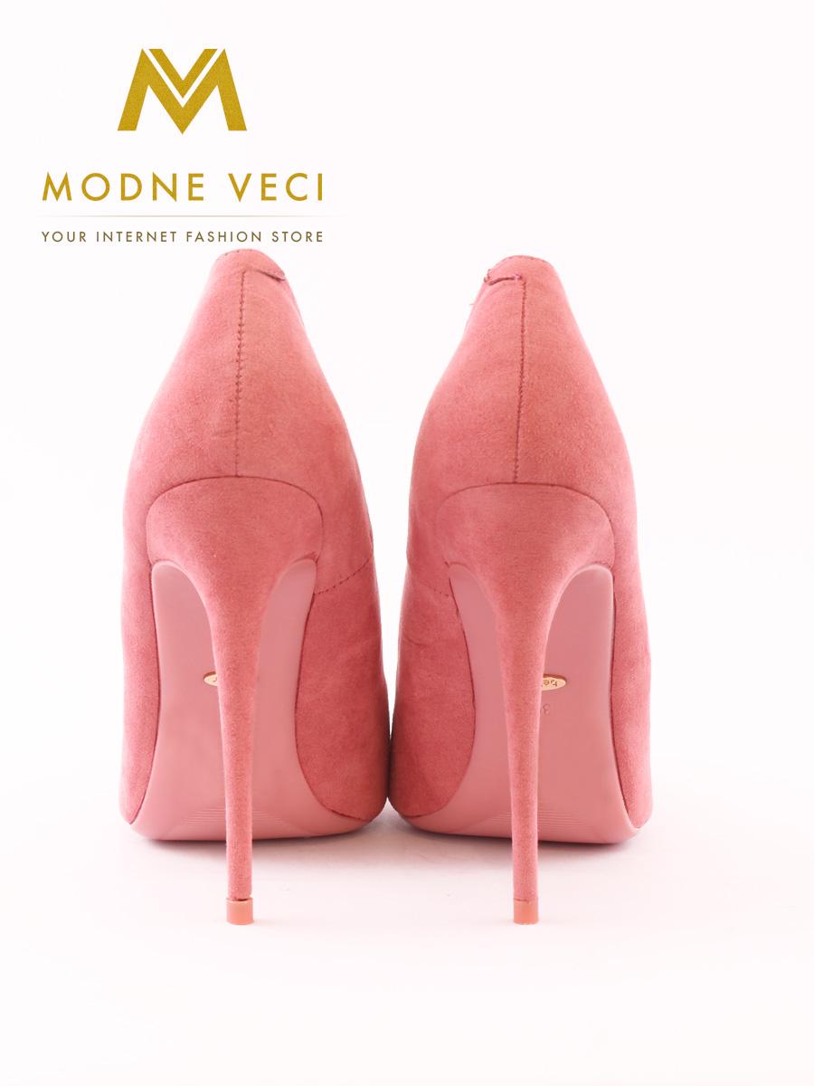 Luxusné semišové ihličkové lodičky ružové 35-40 - Obrázok č. 4