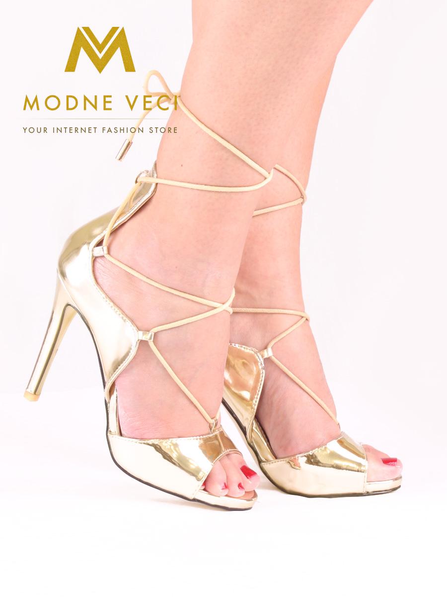 Zlaté  metalické sandálky 35,37,38,39,40  - Obrázok č. 1