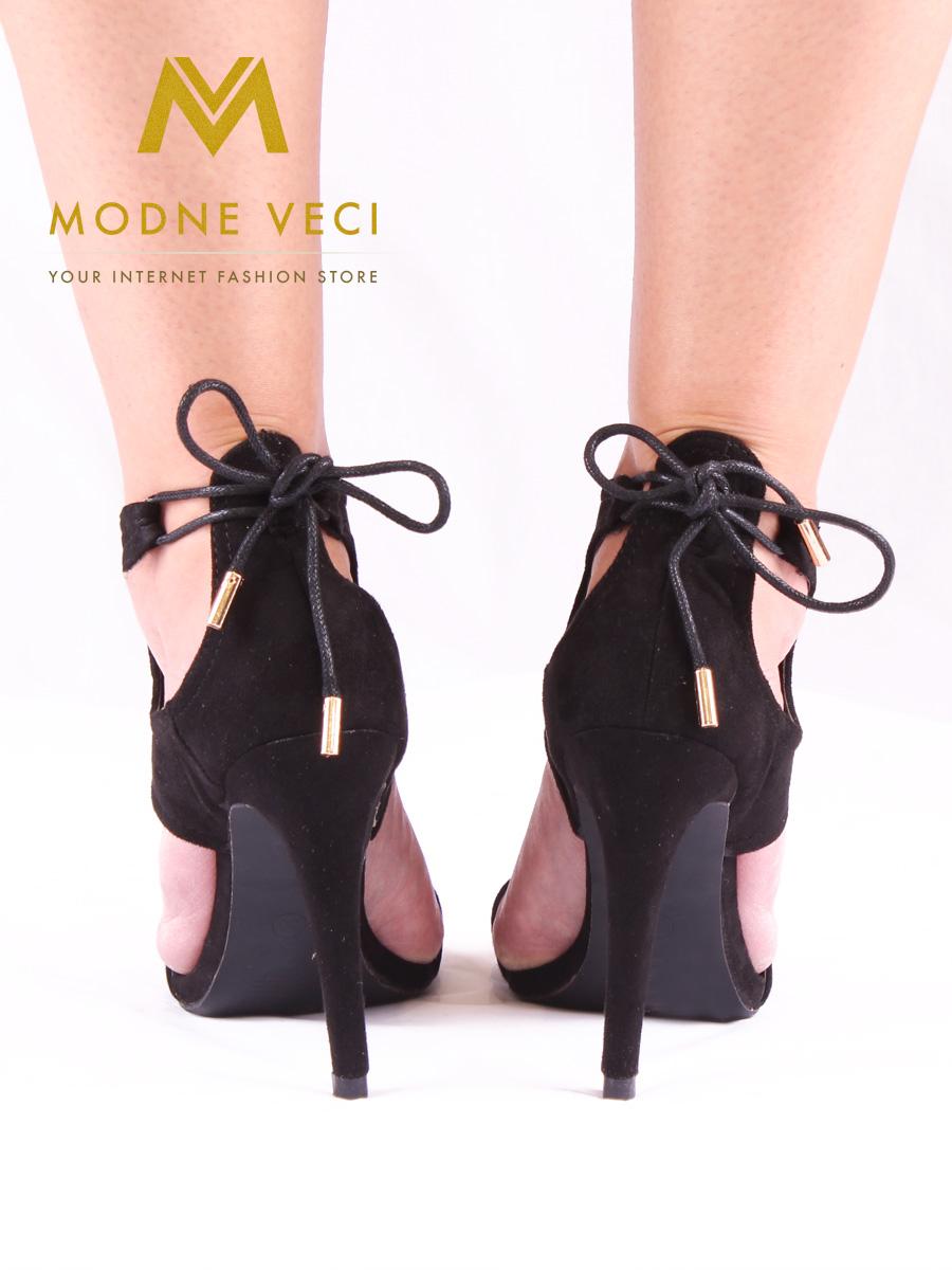 Čierne dámske sandále bez platformy 35-40  - Obrázok č. 2