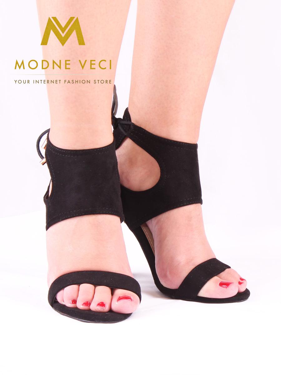 Čierne dámske sandále bez platformy 35-40  - Obrázok č. 4