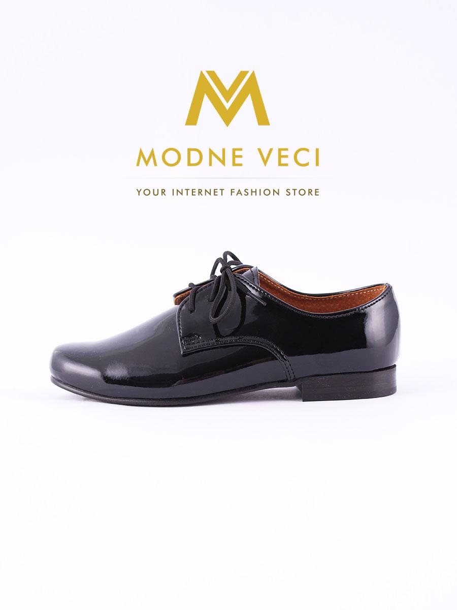 chlapčenske spoločenské čierne kožené topánky 21 - Obrázok č. 1
