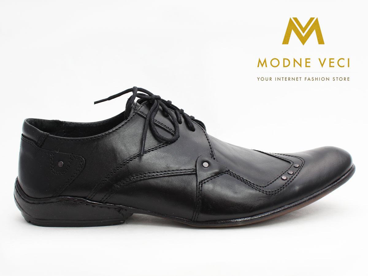 Pánske spoločenské kožené topánky (43) 66-1 - Obrázok č. 1