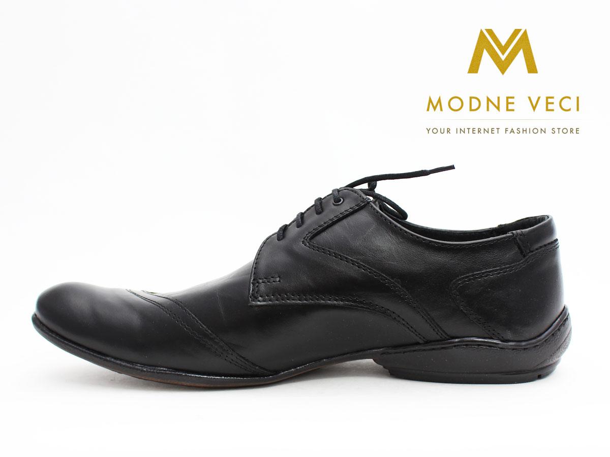 Pánske spoločenské kožené topánky (43) 66-1 - Obrázok č. 2
