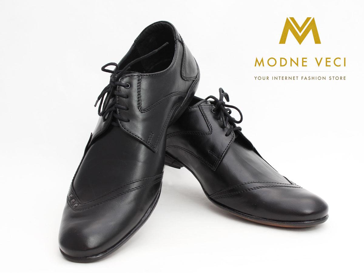 Pánske spoločenské kožené topánky (43) 66-1 - Obrázok č. 3