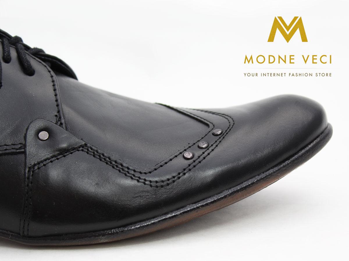 Pánske spoločenské kožené topánky (43) 66-1 - Obrázok č. 4