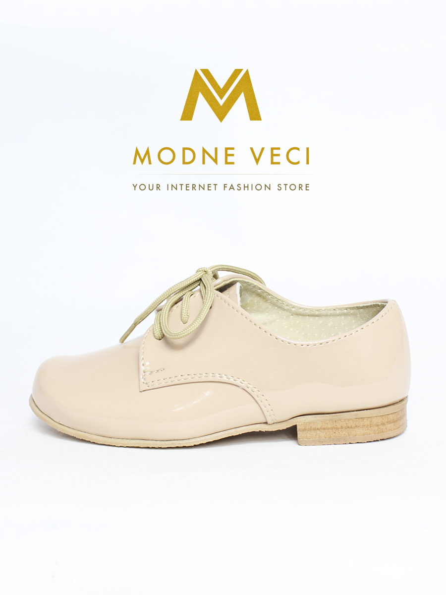 Spoločenské béžové kožené topánky 21 - Obrázok č. 1