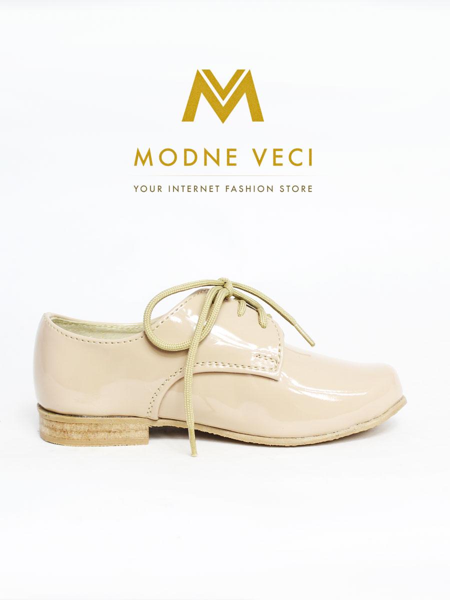 Spoločenské béžové kožené topánky 21 - Obrázok č. 2