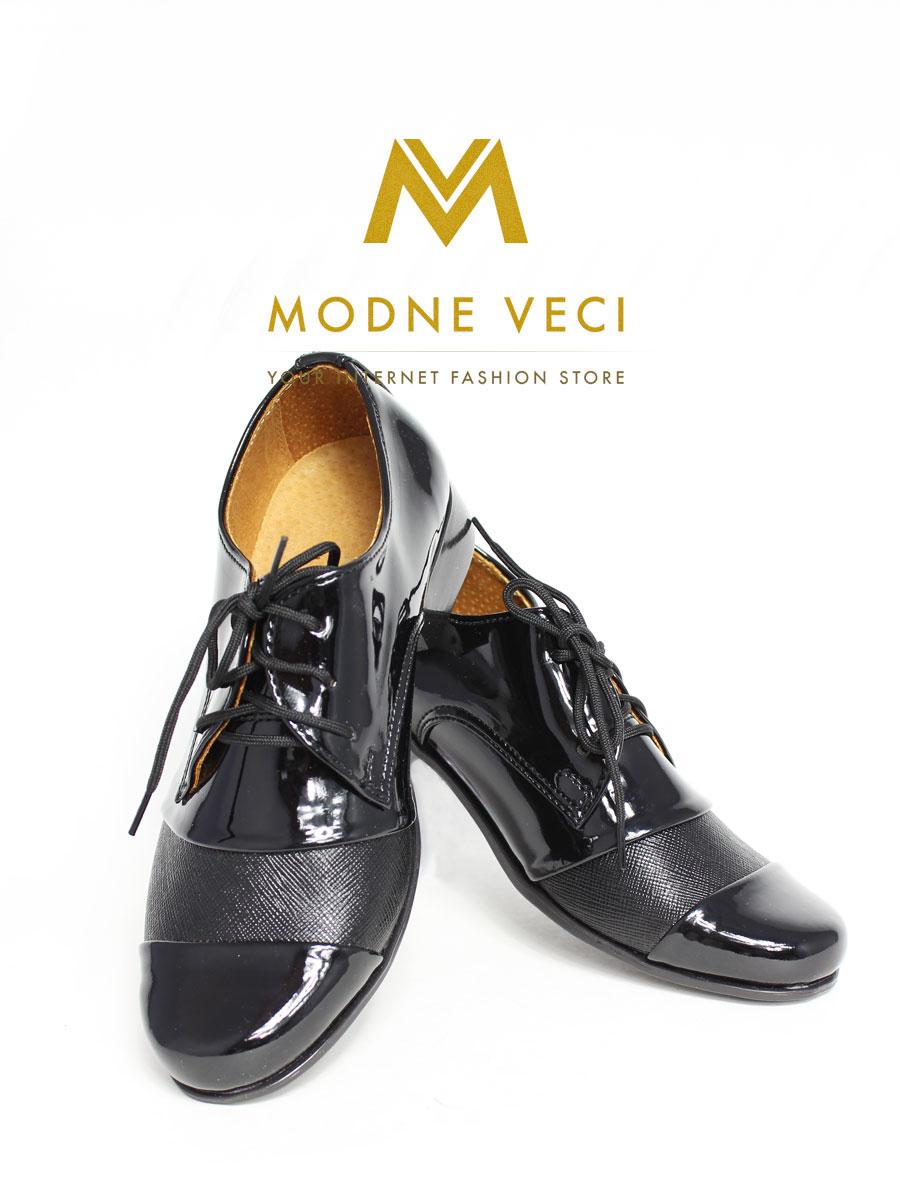 chlapčenske spoločenské čierne kožené topánky 22 - Obrázok č. 3