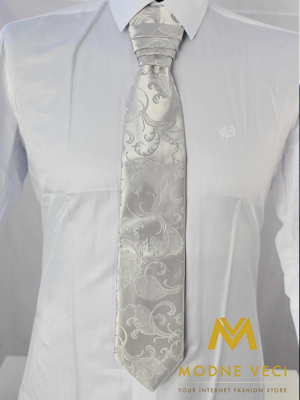 Francúzska kravata-strieborná ornament model 17 - Obrázok č. 2