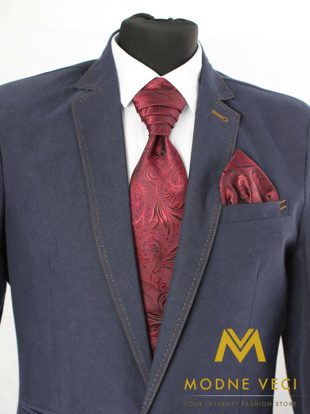 Francúzska kravata-bordo ornament Model 1 - Obrázok č. 1