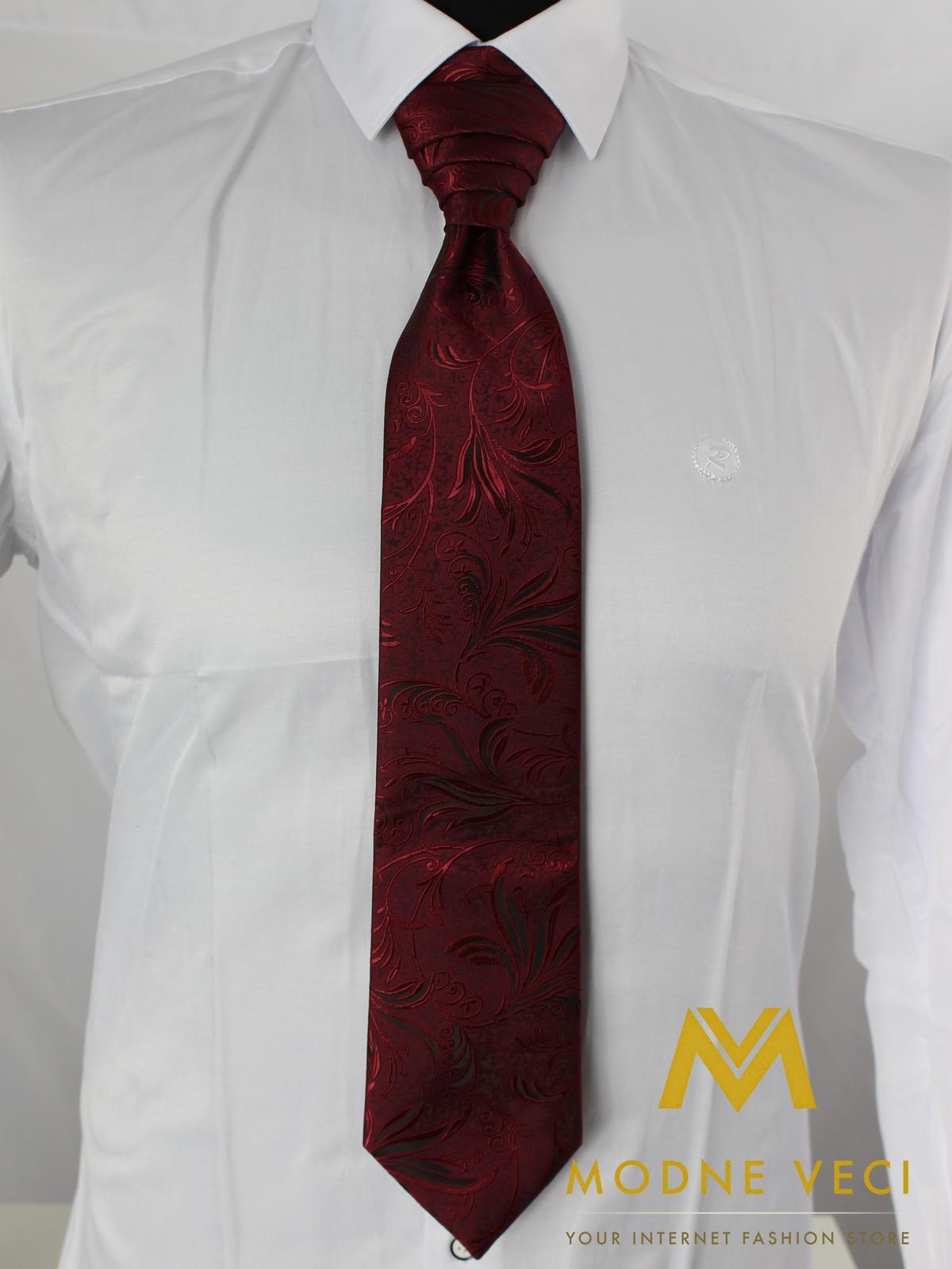 Francúzska kravata-bordo ornament Model 1 - Obrázok č. 2