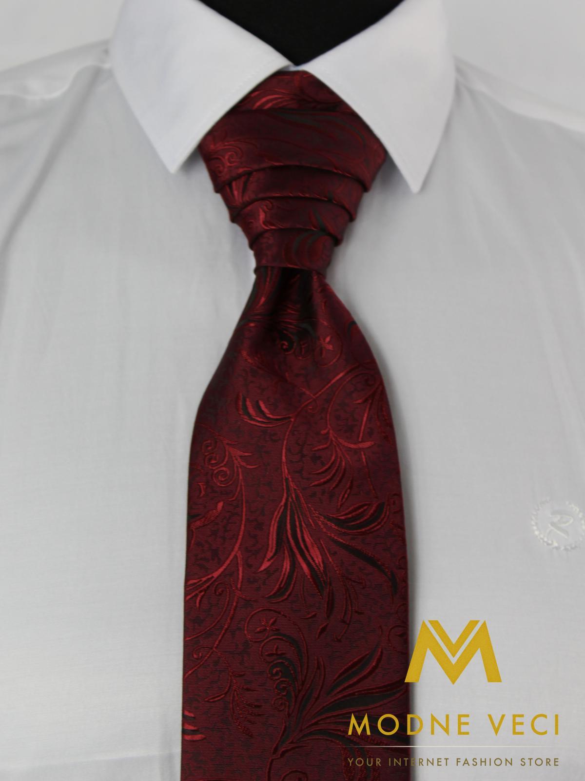 Francúzska kravata-bordo ornament Model 1 - Obrázok č. 3