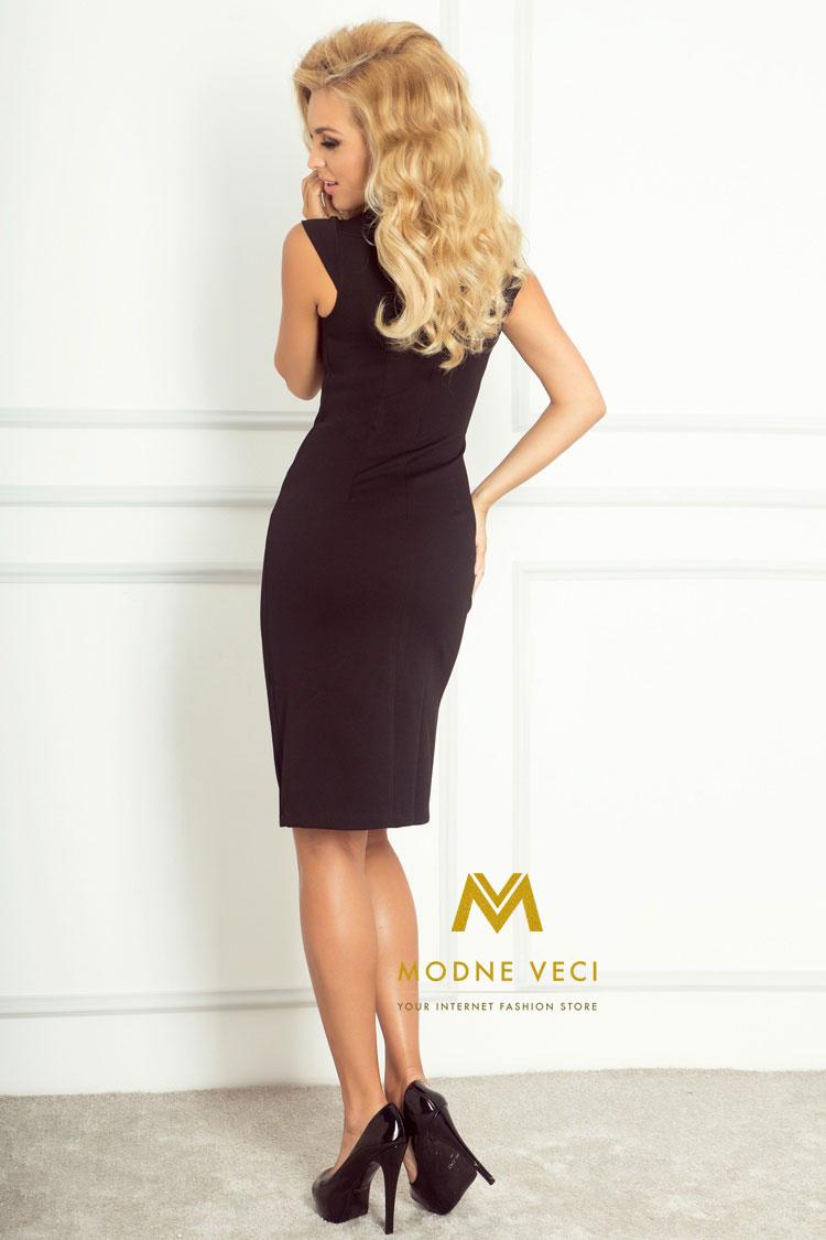 Elegantné čierne šaty 53-9A - Obrázok č. 3