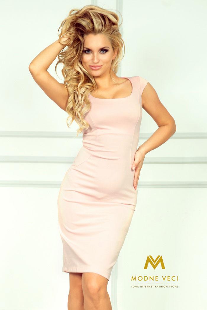 Puzdrové ružové šaty 53-6A - Obrázok č. 1