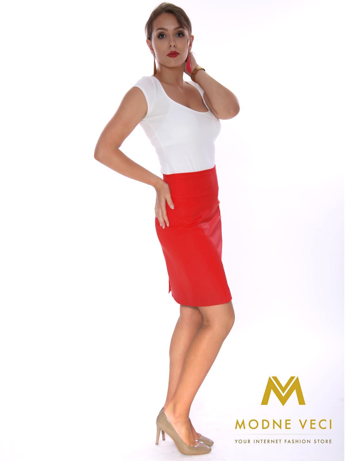 Dámska puzdrová sukňa červená - Obrázok č. 1