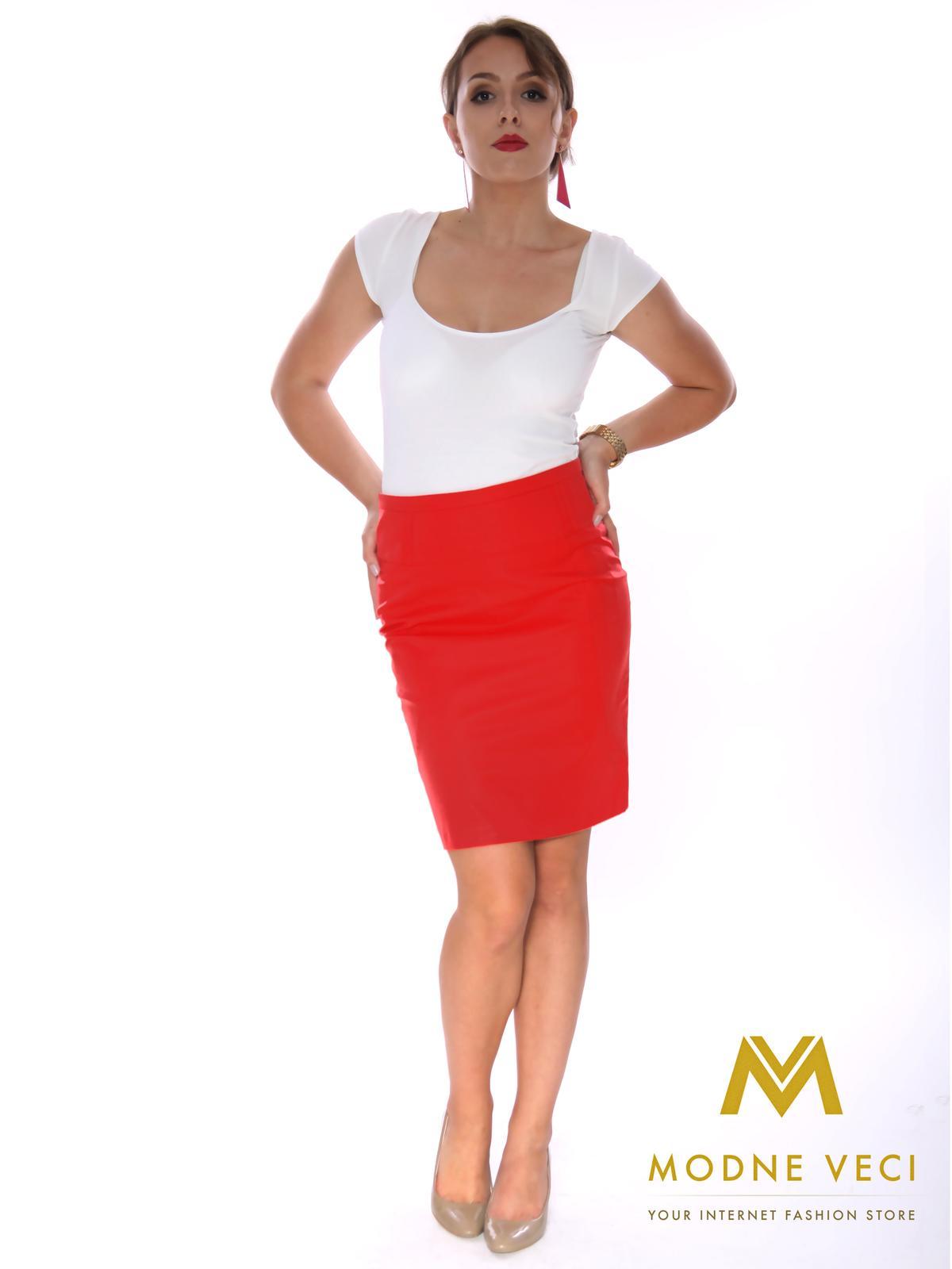 Dámska puzdrová sukňa červená - Obrázok č. 2