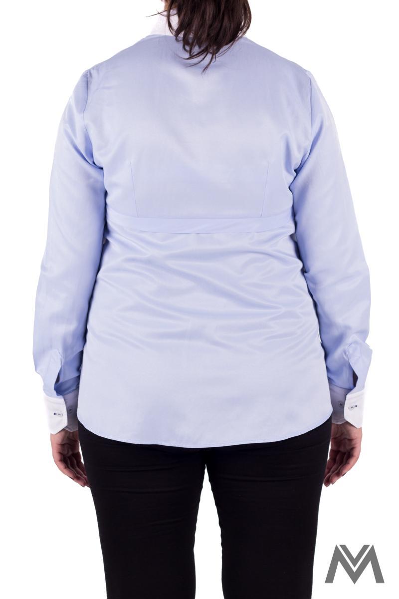 Tehotenská košeľa modrá VS-1602T - Obrázok č. 3