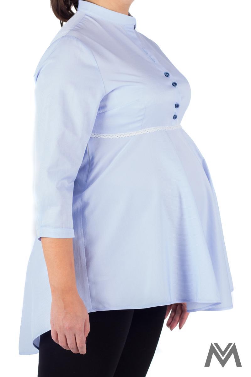 Pohodlná tehotenská košeľa svetlo modrá VS-1729T - Obrázok č. 2