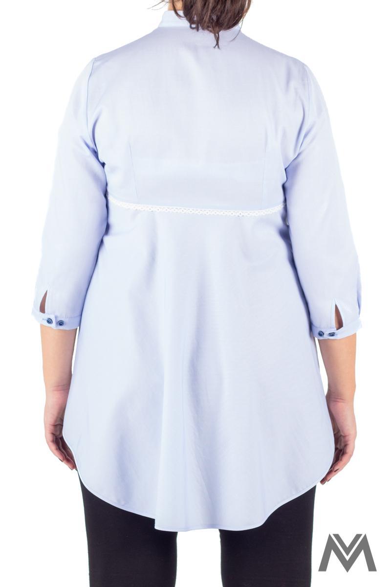 Pohodlná tehotenská košeľa svetlo modrá VS-1729T - Obrázok č. 3