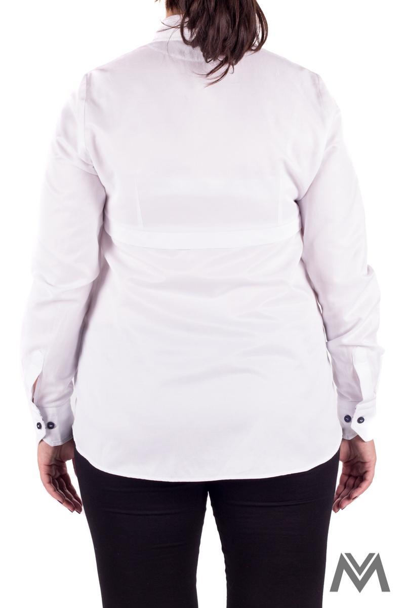 Módna tehotenská košeľa v bielej farbe VS1735T - Obrázok č. 4
