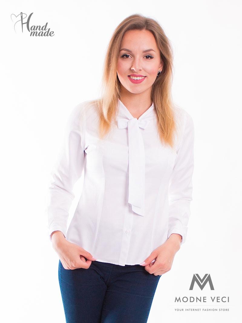 Dámska košeľa  v bielej farbe.  - Obrázok č. 2