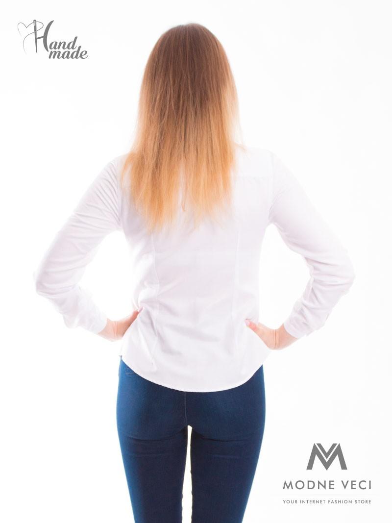 Dámska košeľa  v bielej farbe.  - Obrázok č. 3
