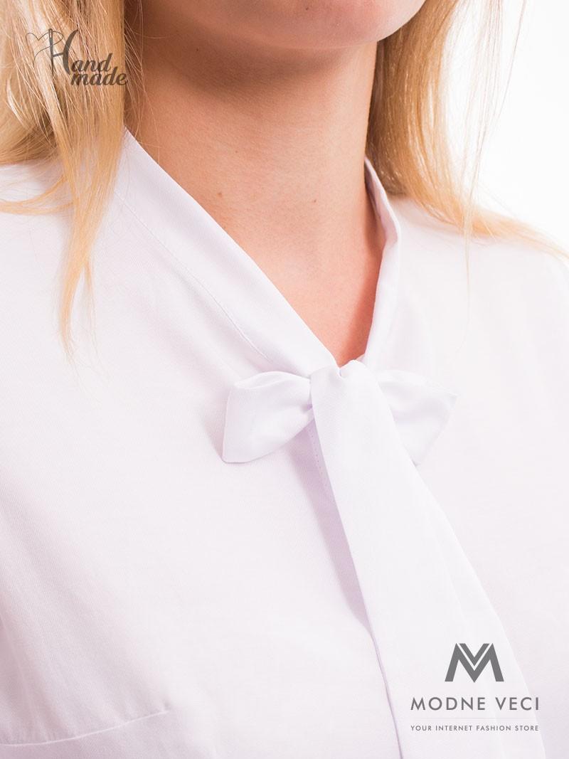 Dámska košeľa  v bielej farbe.  - Obrázok č. 4
