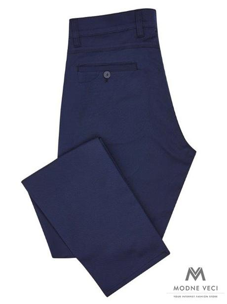 Slimkové pánske nohavice námornická modrá - Obrázok č. 1
