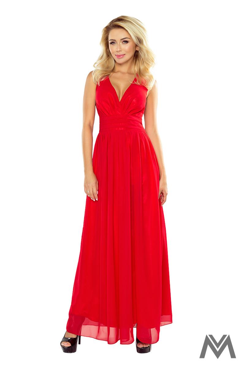 Dlhé večerné šaty v červenej farbe - Obrázok č. 1