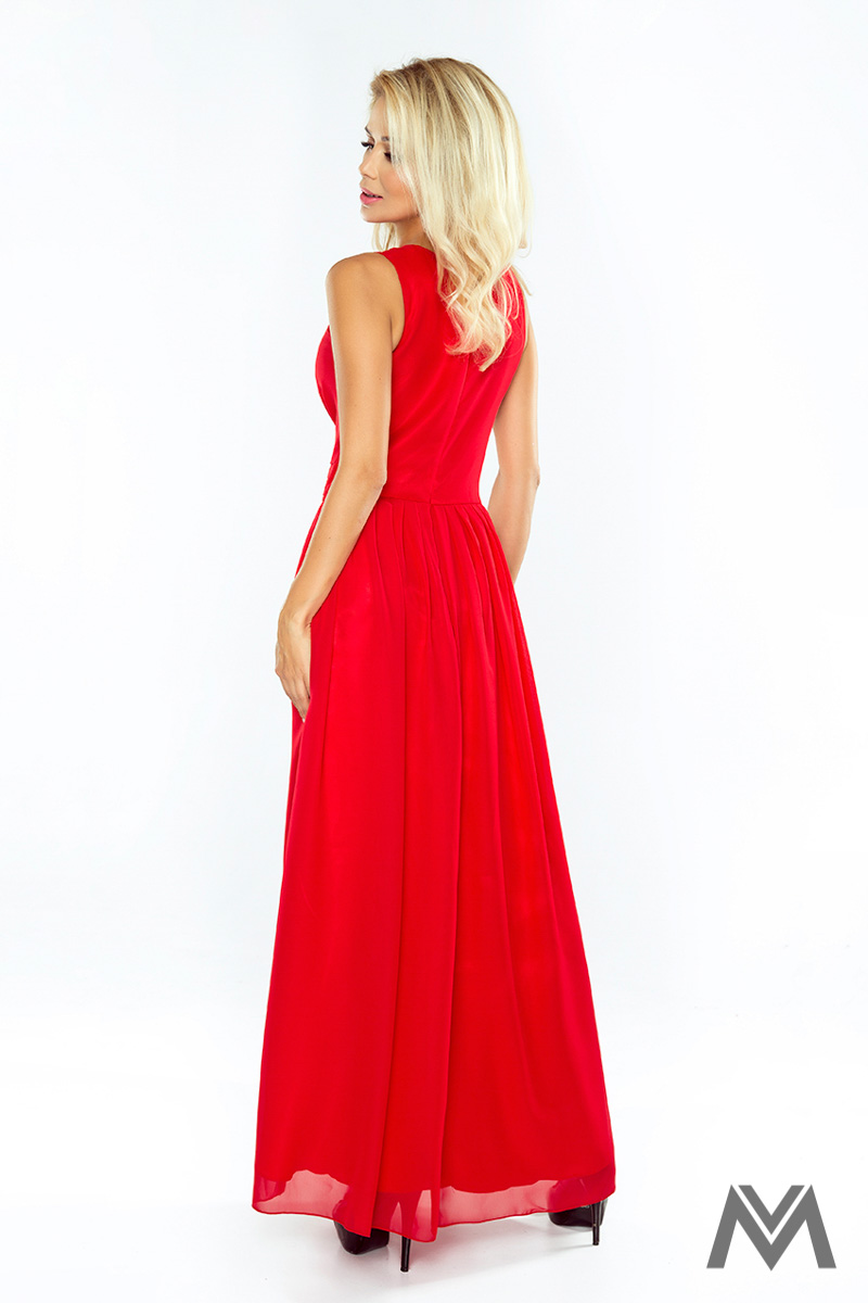 Dlhé večerné šaty v červenej farbe - Obrázok č. 2