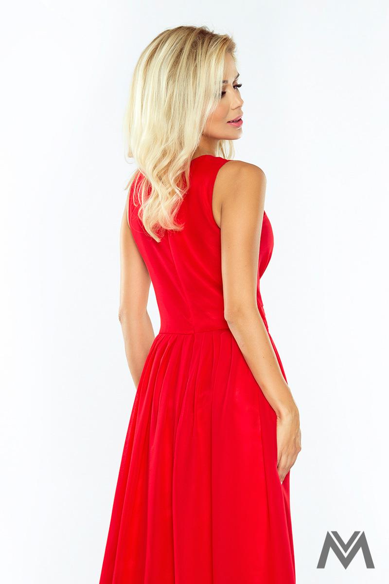Dlhé večerné šaty v červenej farbe - Obrázok č. 3