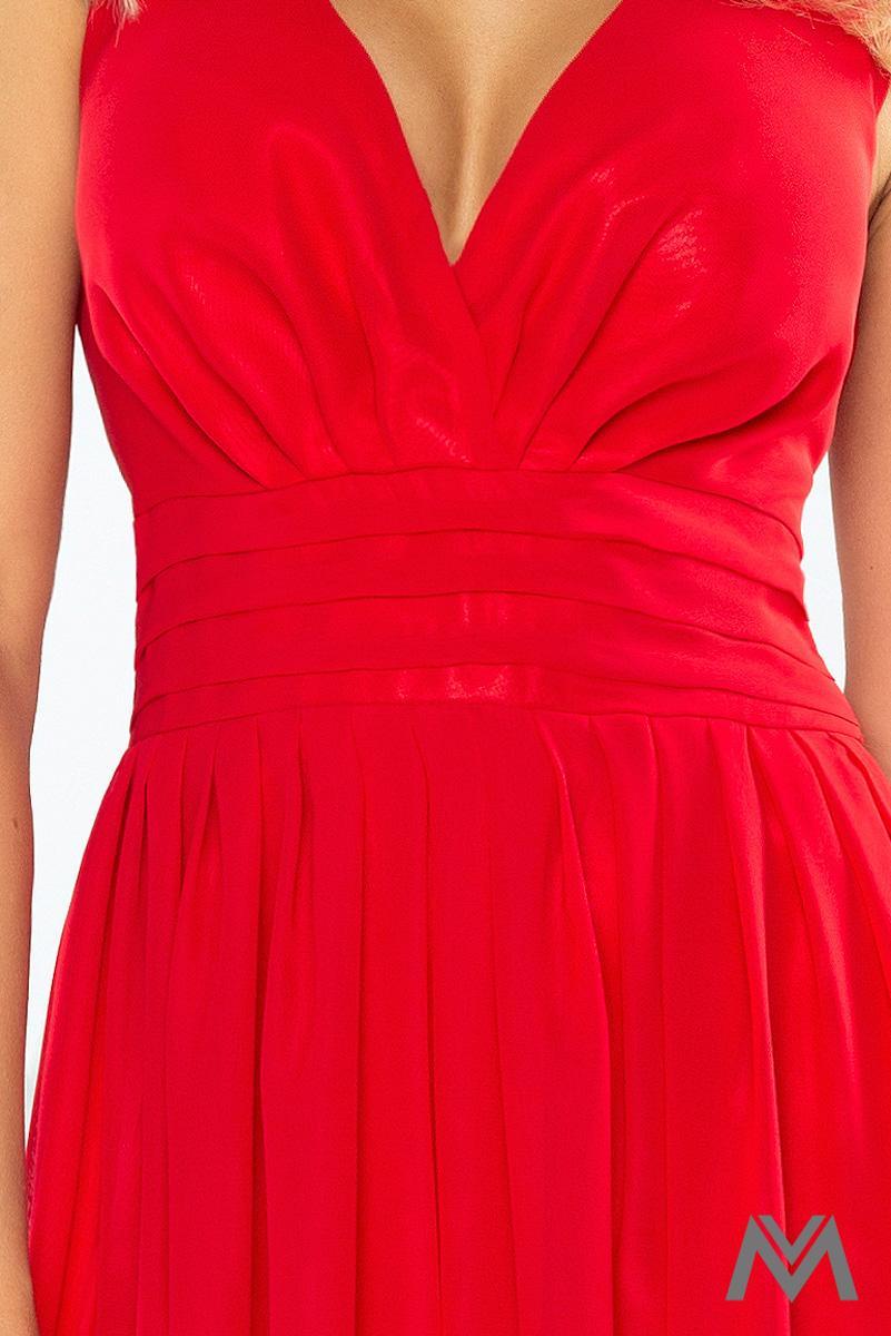 Dlhé večerné šaty v červenej farbe - Obrázok č. 4